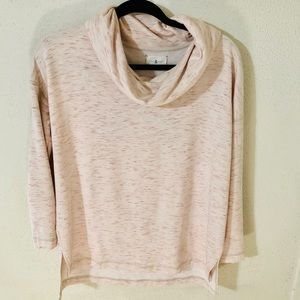 Lou & Grey Blush Cowl Soft Sweatshirt Size Small